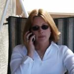 Di on phone